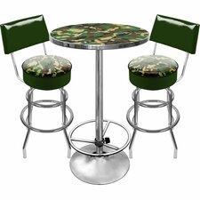 Hunt Camo Game Room 3 Piece Pub Table Set