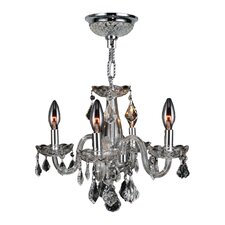 Clarion 4 Light Crystal Chandelier