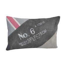 No. 6 Upcycled Throw Pillow