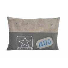 Army Upcycled Throw Pillow