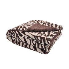 Plush Zebra Print Throw