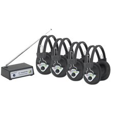 Multi Wireless Listening Center with 4 Headphones
