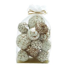 Mesmerizing Decorative Dried Sola Ball Bag Sculpture