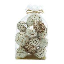 Mesmerizing Decorative Dried Sola Ball Bag Sculpture