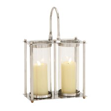 Classy Stainless Steel Glass Leather Lantern