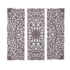 3 Piece The Must Have Wood Carved Panel Wall Décor Set