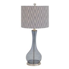 """The Genie's Glass Metal 28"""" H Table Lamp with Drum Shade"""