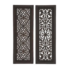 2 Piece Beautiful Styled Wood Panel Wall Décor Set