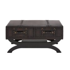 Classy Wood & Leather Coffee Table