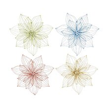 Lovely Metal Wall Décor Set (Set of 4)