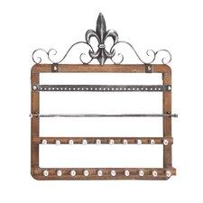 Elegant Designed Wood Wall Mounted Jewelry Holder