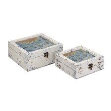 2 Piece Wood Box Set