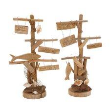 2 Piece Classy Driftwood Décor Set Figurine