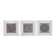 Elegant Styled Metal 3 Piece Wall Art Set
