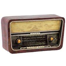 Antique Decorative Detailed Replica of 1970s Resin Radio Sculpture