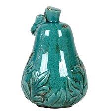 Antique Ceramic Pear Sculpture