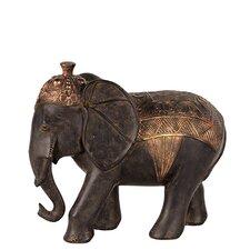 Skillfully Sculpted Resin Blanket Elephant Figurine