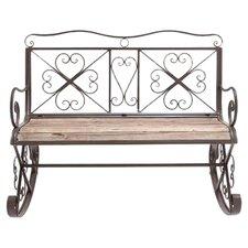Swindon Metal and Wood Garden Bench