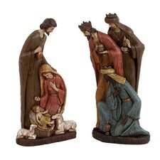 2 Piece Nativity and Three Wise Men Set