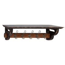 Most Useful Wood Metal Wall Coat Rack