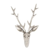 Stunning and Appealing Aluminum Reindeer Head Wall Décor