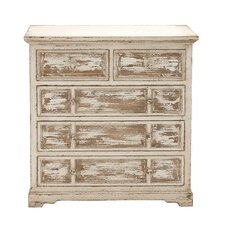 Simple and Unassuming Wood 5 Drawer Chest