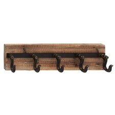 Wood Metal Wall Coat Rack