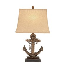 """Polystone Metal 27"""" H Table Lamp with Rectangular Shade"""