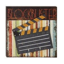 Decorative Wood Metal Movie Plaque Wall Décor