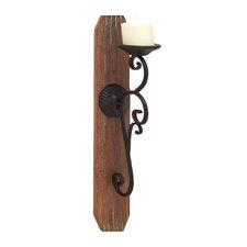 Magnificent Styled Wood Sconce