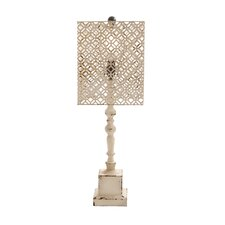 """Wood Metal 29"""" H Table Lamp with Rectangular Shade"""