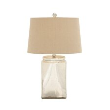 "Beautiful Designed Stunning Glass 25"" H Table Lamp with Empire Shade"