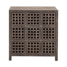 Wood 9 Drawer Chest