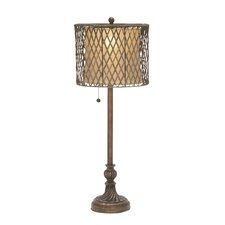 "Ravishing 33"" H Table Lamp with Drum Shade (100 W Single Bulb)"
