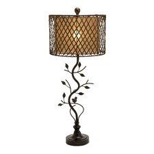 "Beautiful Metal Polystone Rattan 35"" H Table Lamp with Drum Shade"
