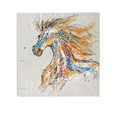 Cool and Colorful Painting Print on Wrapped Canvas