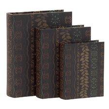 3 Piece Wood Book Box Set