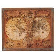 Simply Breathtaking Wood World Map Wall Décor