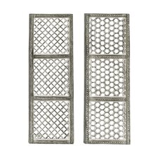 Mesh Design Panel Wall Decor (Set of 2)
