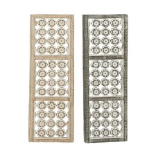 Flower Design Panel Wall Decor (Set of 2)