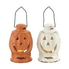 Fascinating Halloween Ceramic Lantern (Set of 2)