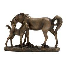 Adorable Double Horse Figurine