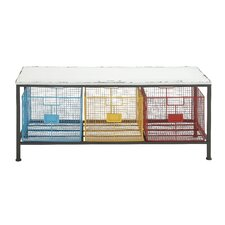 Strongly Built Metal Wood Storage Kitchen Bench