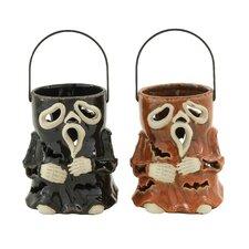 Entrancing Halloween Ceramic Lantern (Set of 2)