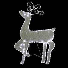 Standing Reindeer with 144 LED Light Decoration