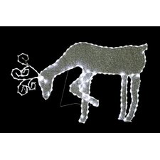 Grazing Reindeer with 144 LED Light Decoration