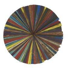 Vibrant Wood Round Wall Decor