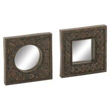 2 Piece Wall Mirror Set