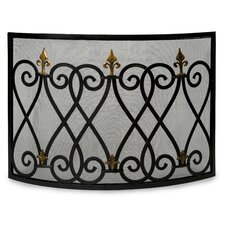 Mauresque 1 Panel Wrought Iron Fireplace Screen