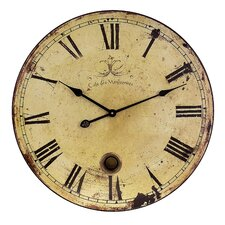 "Oversized  23"" Pendulum Wall Clock"
